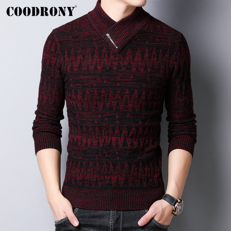 COODRONY Brand Winter Sweater Men Cotton Pull Homme Thick Warm Turtleneck Sweaters Pullover Men Clothes 2019 Jersey Hombre 91122