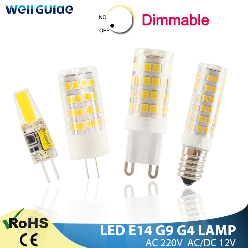 LED G4 G9 Lamp Led Light E14 LED Bulb 7W 9W 10W 12W 220V AC12V COB SMD 2835 LED No Flicker Dimmable Ceramic Replace halogen lamp