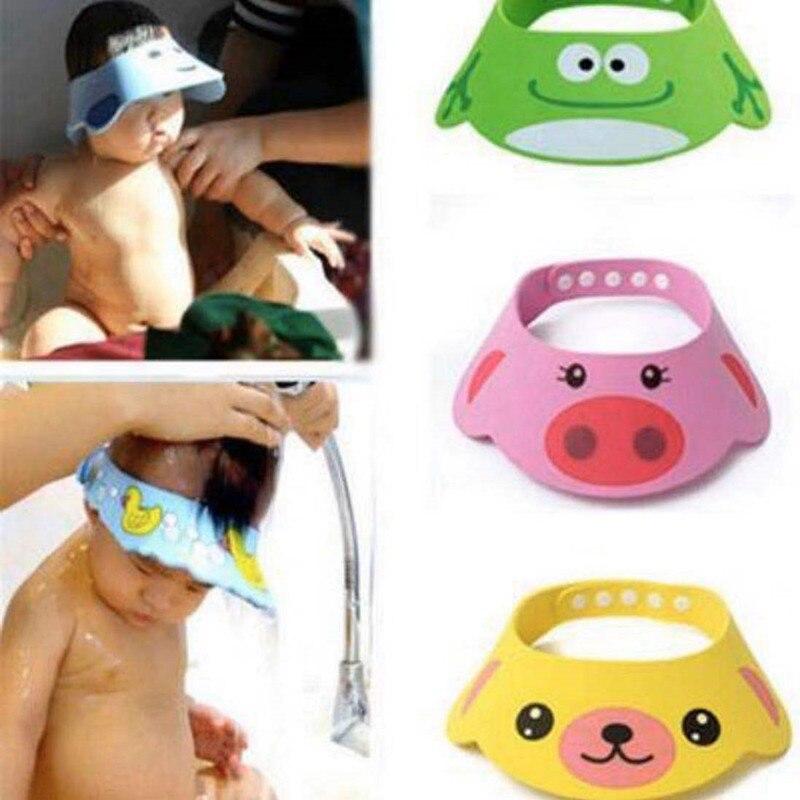 1Pcs Adjustable Hat Toddler Kids Bathing Shower Cap Wash Hair Shield Direct Visor For Baby Care