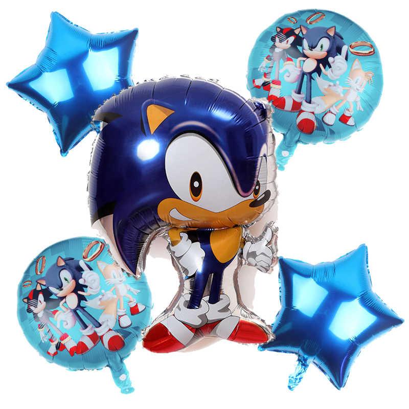 Nieuwe Sonic Ballon De Egel Air Ballons Kinderen Superheld Sega Game Fans Anime Thema Party Happy Brithday Banner Decoratie Speelgoed