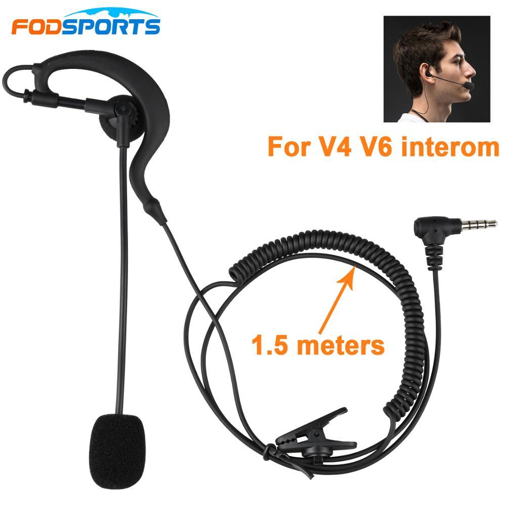 3.5MM Bluetooth Headset Line Motorcycle Helmet Intercom Accessories Referee speaker Apply To Fodsports V6 intercomunicador moto