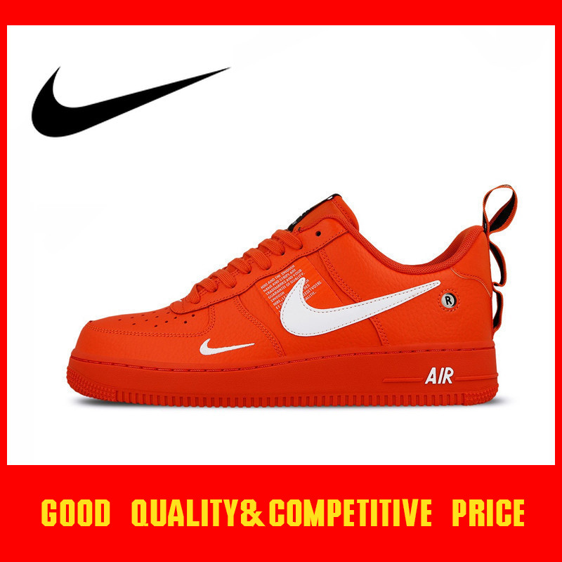 Nike Skateboard-Shoes Air-Force Outdoor Sports Authentic Original New-Fashion Trend Red
