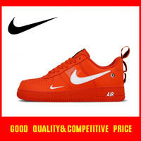 Original authentic Nike Air Force 1 Af1 men's skateboard shoes new fashion outdoor sports shoes red trend sports AJ7747 800