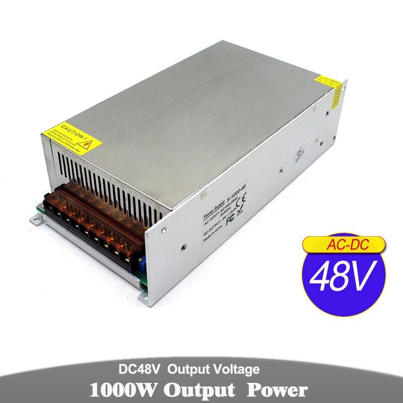 1000W 20.8A 48V transformateur d'alimentation à découpage 110V 220V AC DC48V SMPS pour lumière LED CNC routeur imprimante 3D moteur pas à pas