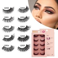 Makeup Lashes Dramatic Fluffy Natural 5-Pairs 3D YSDO Long-Volume Wispy