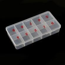 1 caixa de dicas da arte do prego caixa de armazenamento vazia para 500 pçs 10 tamanhos dicas do prego pinças clippers canetas recipiente de polimento manicure caixa bzy7