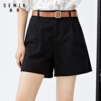 SEMIR Women shorts 2020 summer new pure cotton casual women loose ins style trend black