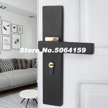 Дверные замки из алюминиевого сплава, Континентальная спальня, Минималистичная внутренняя дверная ручка, замок, цилиндр, безопасность, бесшумный дверной замок, бытовой