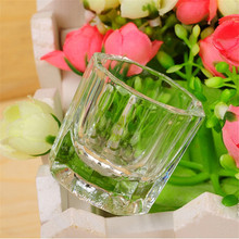 Nail Art Glass Cup Glassware Manicure Tool for Mixing Acrylic Liquid Salon Home CJ666