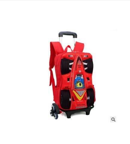 Kind Schule Rucksack Auf rädern Trolley Schule tasche für boy kinder gepäck auto Trolley Roll Tasche Kinder Schule Rucksack für kinder-in Schultaschen aus Gepäck & Taschen bei  Gruppe 1