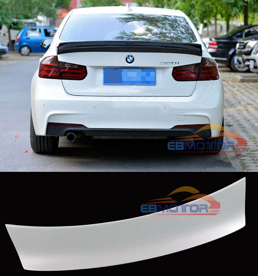 PAINTED LB PERFORMANCE STYLE REAR SPOILER FOR BMW 3-SERIES F30 F35 F80 M3 2011UP B290F image