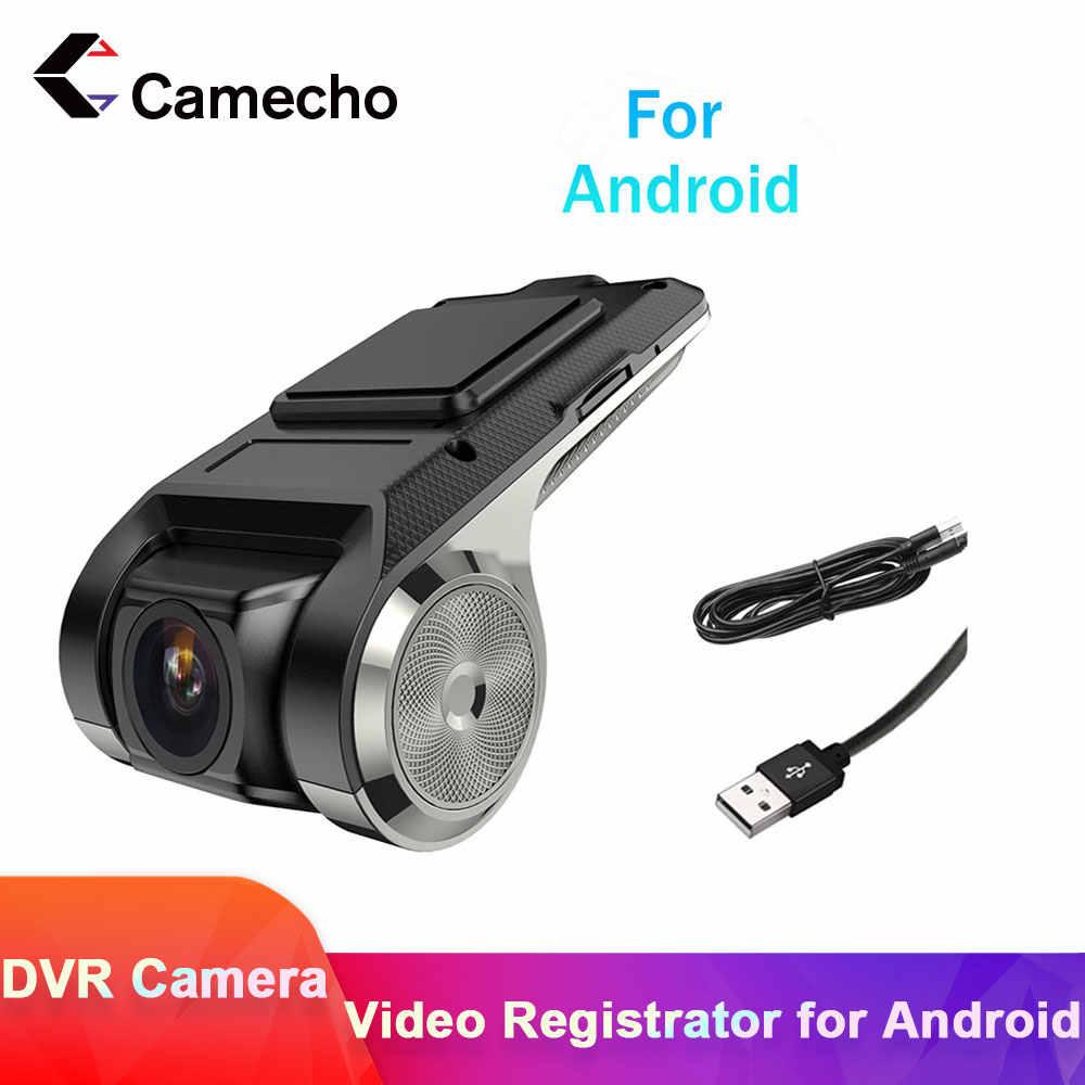 Camecho 1080P جهاز تسجيل فيديو رقمي للسيارات كاميرا مسجل فيديو واي فاي ADAS G-الاستشعار مسجل أندرويد السيارات الرقمية مسجل فيديو داش كام كامل HD