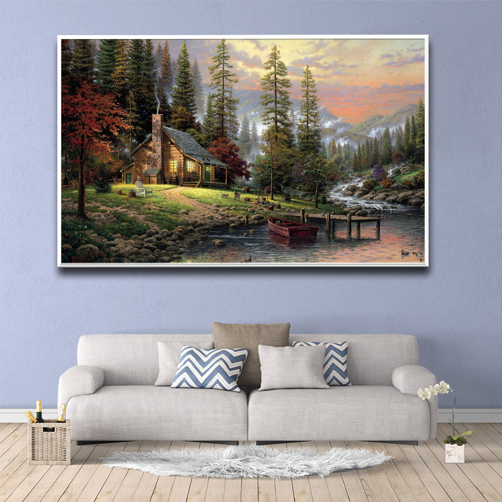 Hot Forest Scenery In Front Of The Door Pictures For Home Design Painting Wall Picture Bathroom Decor Home Decor