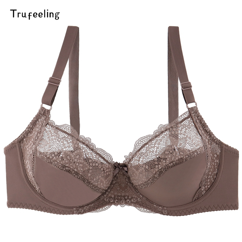 Trufeeling Foral <font><b>lace</b></font> <font><b>Sexy</b></font> women <font><b>Bra</b></font> Floral <font><b>Push</b></font> <font><b>Up</b></font> <font><b>Bras</b></font> Underwire Bralette Female Brassiere Plus Size Super Thin <font><b>Bra</b></font> C <font><b>D</b></font> E <font><b>Cup</b></font> image