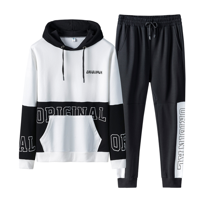 2020 Spring And Autumn MEN'S Suits Korean-style Trend Casual Handsome Youth Students MEN'S Hoodies Sports Set