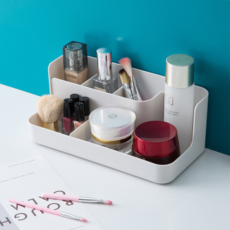 Plastic Makeup Organizer Box Cosmetics Storage Container Acrylic Lipstick Holder Jewelry Sundries