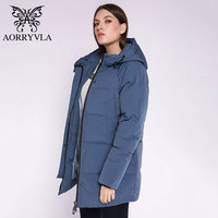 AORRYVLA 2019 New Winter Collection Women Winter Warm Down Jacket Female Windproof Parka Long Thick Winter Jacket Women Casual
