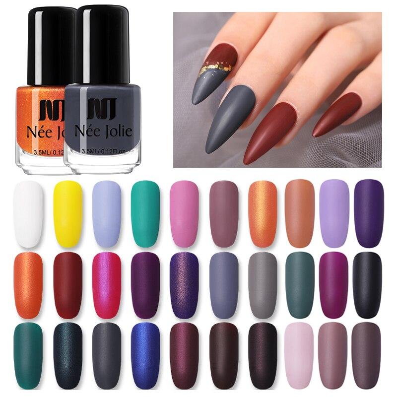 NEE JOLIE Matte Effetc Nail Polish 33  Nail Colors Red Gray Nail Art Oily Polish Varnish  Nail Art Varnish DIY