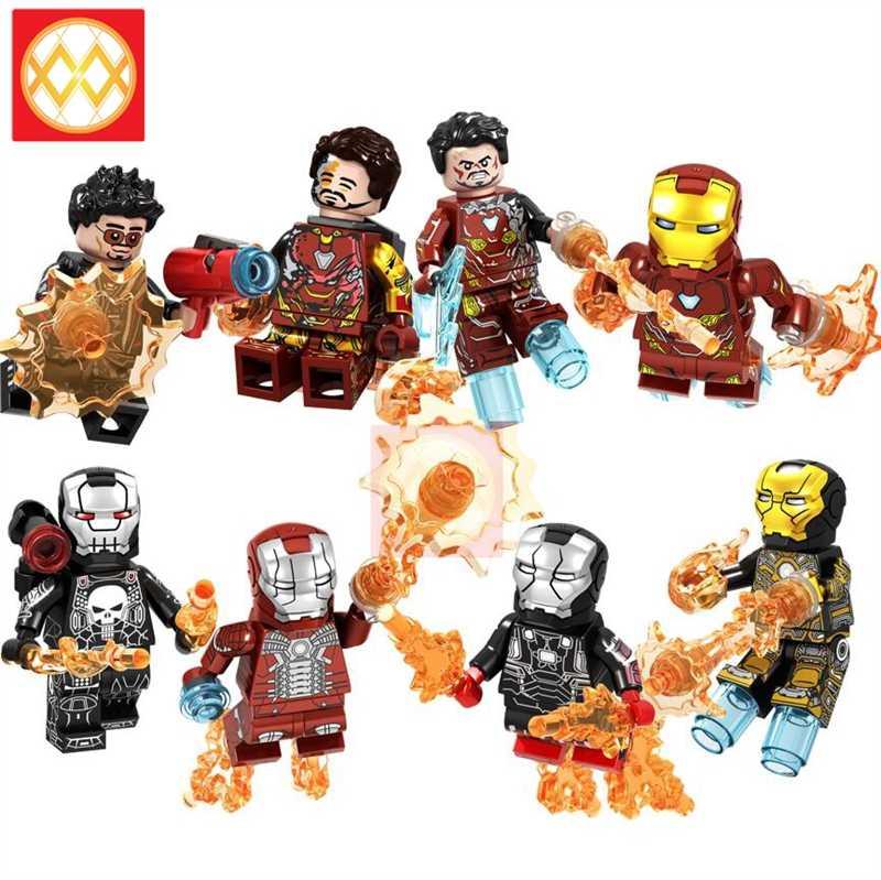 GD230-GD237 ได้รับบาดเจ็บ Iron Man MK85 50 พริกไทย Building Blocks อิฐ Hawkeye Ironman Ant Man Thor Avengers Super Heroes ของเล่นของขวัญ