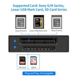 Image 3 - Rocketek USB 3.0 XQD SD działa jednocześnie czytnik kart pamięci Transfer Sony seria M/G dla komputera z systemem Windows/Mac OS
