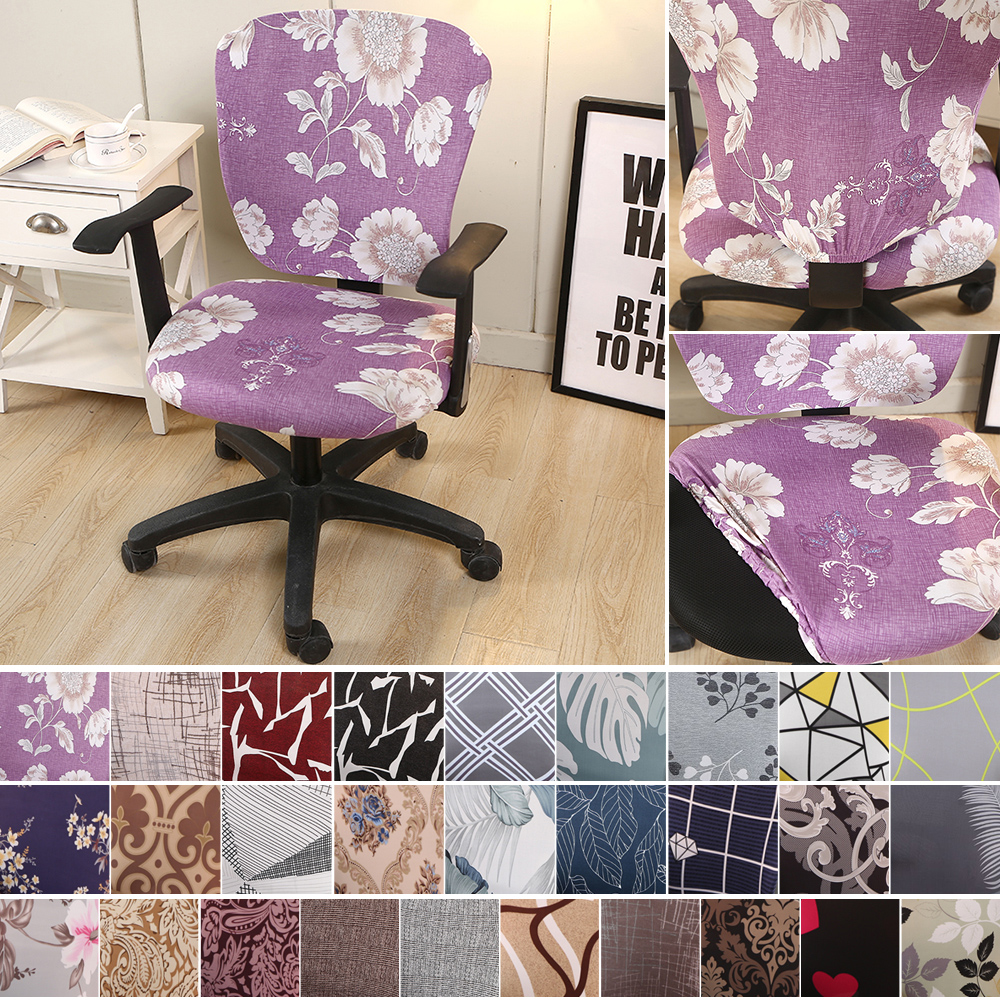Modern Elastic Stretch Office Chair Cover Computer Chair Slipcover Universal Removable Anti-dirty Slipcover Protector(China)