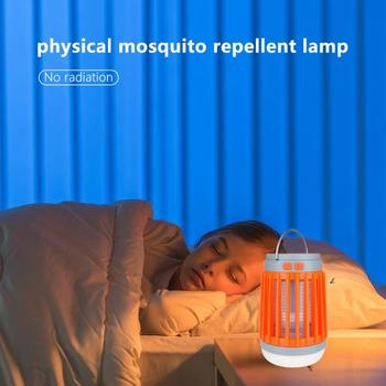 Solar Mosquito Killer Lamp Waterproof Insect Fly Bug Trap Light Flashlight Mosquito Zapper Light For Bedroom, Garden,Camping 3