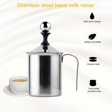 Kitchen Stainless Steel Manual Milk Frother Foam Maker Double Mesh Milk Creamer Delicate Foam For Coffee Kitchen Accessories