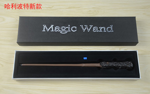 Image 3 - Harri Potter Wands Toys 36 CM Glowing Metal Magic Wand Hogwart Popular Gifts With Gift Box Cosplay Real Magic Effects Kid Toy