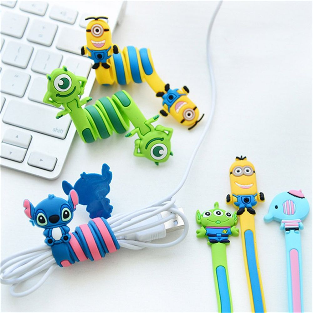Cartoon Earphone Cable Wire Cord Organizer Holder Winder Winding Thread Tool