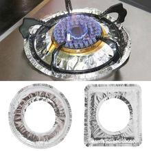 Лидер продаж 10 шт. алюминиевая фольга бумага газовая плита протекторы крышка коврик жиронепроницаемый алюминиевая фольга бумага кухонные чистящие аксессуары