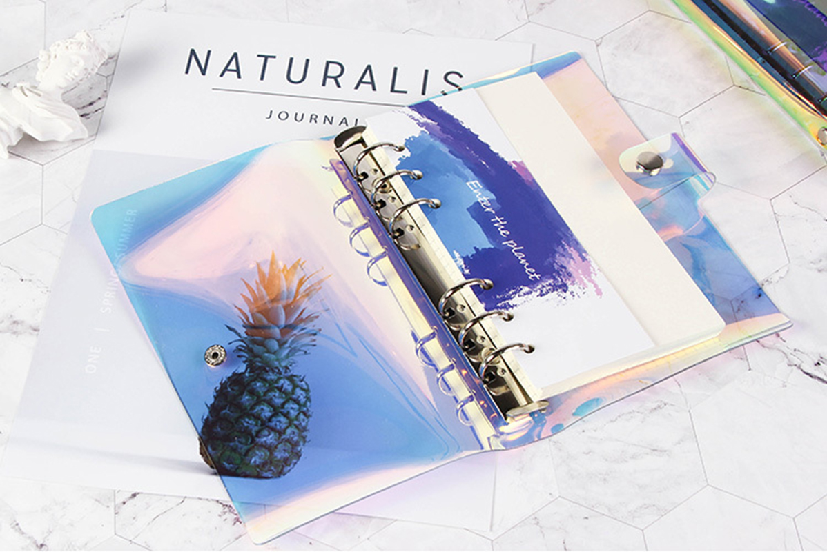 A5 A6 Laser transparent Notebook Planner Organizer Paper Planner Inner Page ring binder Diary Bullet Journal Notebook Wholesale 5