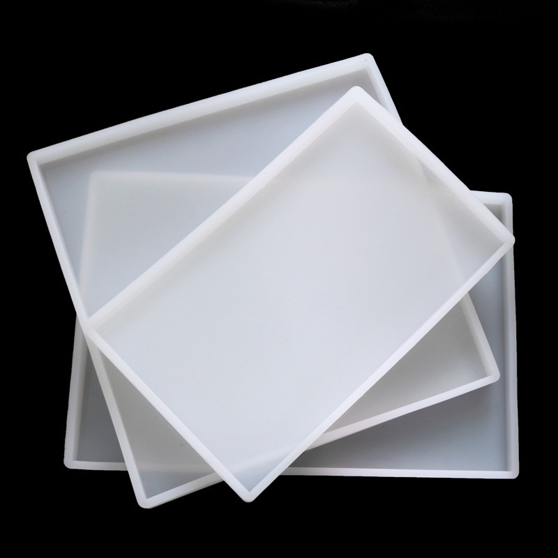 Super Big Square Coaster Silicone Mold Large Fluid Artst Mold Resin Coaster Making Epoxy Resin Crafts