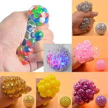 Hand-Fidget-Toy Squeeze-Ball Balls Mesh Stress Relief Rainbow Novetly