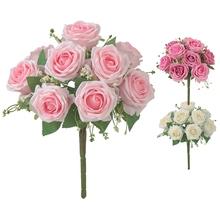 Sztuczne kwiaty róży bukiet Faux kwiaty sztuczne kwiaty gospodarstwa kwiaty dla domu ogród wesele dekoracji tanie tanio CN (pochodzenie) Simulation flower Wedding party garden living room bedroom dining room etc