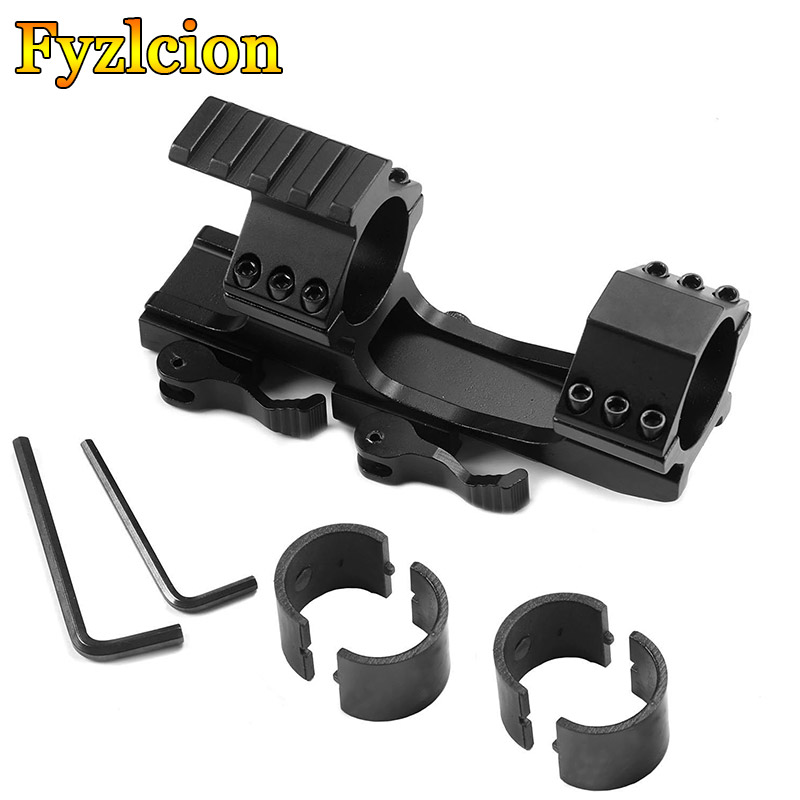 1inch //30mm Quick Release Cantilever Forward Reach Dual Ring Scope Mount
