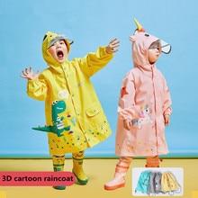 Kocotree-chubasquero impermeable con dibujos de unicornios para niños y niñas, Poncho de lluvia para escuela primaria