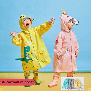 Kocotree Cartoon Unicorn Waterproof Raincoat For Children Baby Rain Coat Boys Girls Primary School Students Rain Poncho Jacket цена 2017