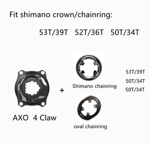 Image 4 - SIGEYI אופני עכביש כוח מטר כביש MTB AXO Fit SRAM הרוטור Crank עבור Shimano 53/39T 52/36T 50/34T כושר כתר עגול/סגלגל Chainring