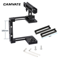 CAMVATE Extension-type Half Cage Kit With Adjustable Top Cheese Handle Grip For DSLR Camera (For Either Side Configuration) C249