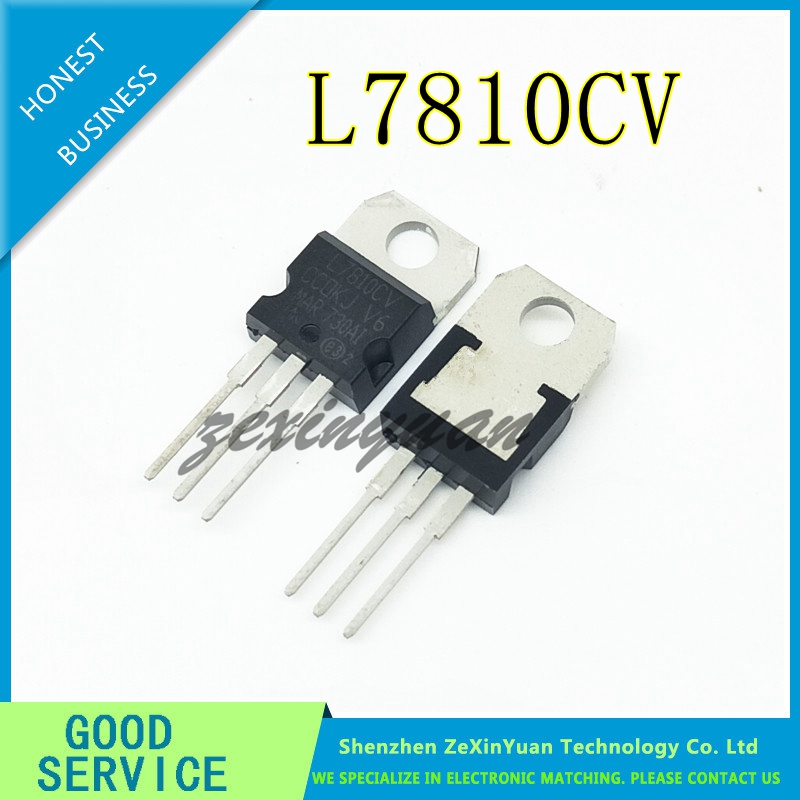 10PCS/LOT L7810CV TO-220 L7810 7810 TO220 NEW Voltage regulator title=