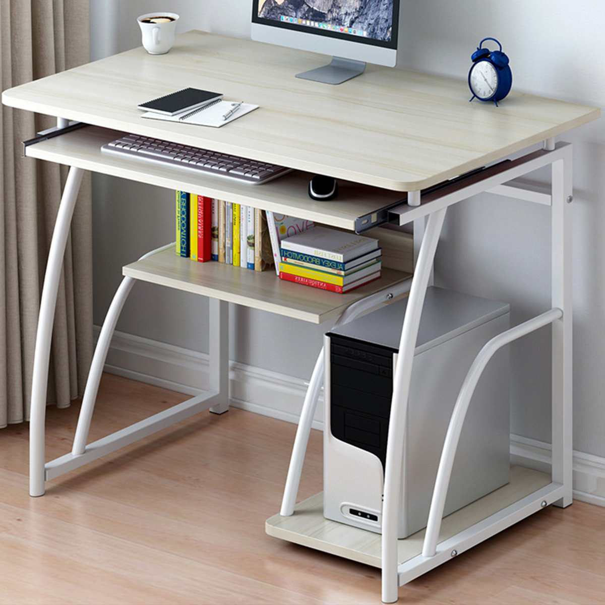 Computer Table Laptop Desk With Keyboard Bracket Laptop Bed Table Floor Standing Desk Home Office Furniture 71cm