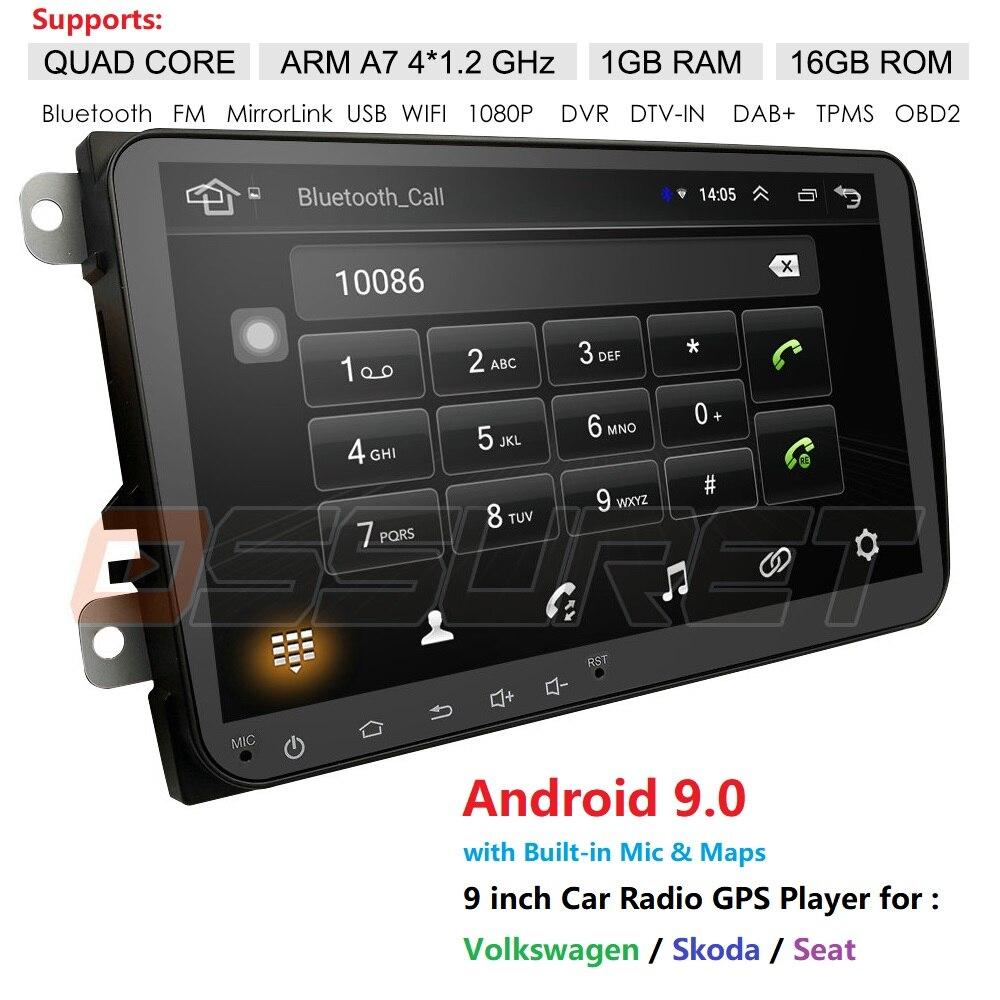 Car Multimedia Player 2Din Android Car GPS For VW/Volkswagen/Golf/Polo/Tiguan/Passat/b7/b6/SEAT/leon/Skoda/Octavia Radio Nav DAB