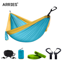 Hiking Camping 300*200cm Hammock Portable Nylon Safety Parachute Hamac Hanging Chair Swing Outdoor Double Person Leisure Hamak orange black orange 300 200cm nylon hammock outdoor furniture