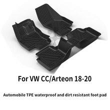 Volkswagen custom car всепогодный tpe tpo напольный коврик для