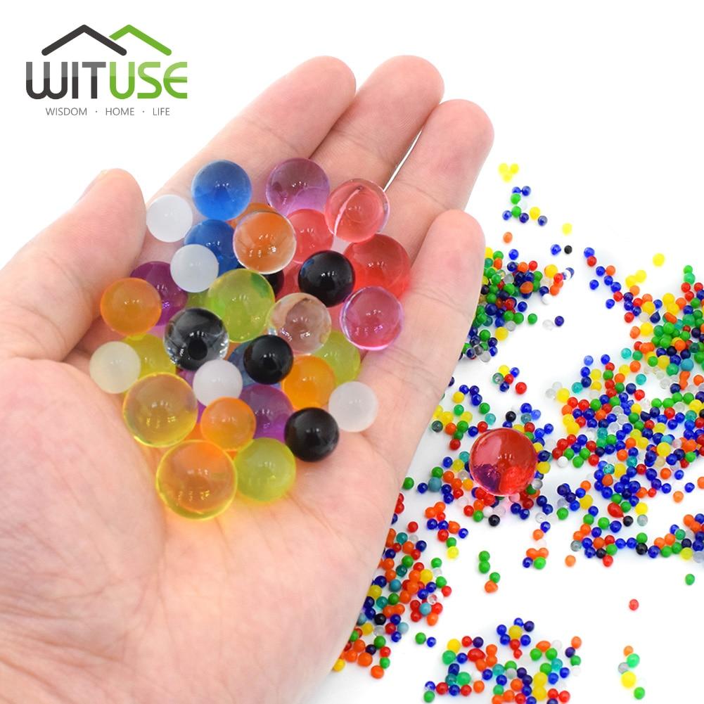 10000Pcs/lot Crystal Soil Water Beads Hydrogel Gel Polymer Flow Mud Grow Ball Beads Orbiz Growing Children Kids Toy Water Balls