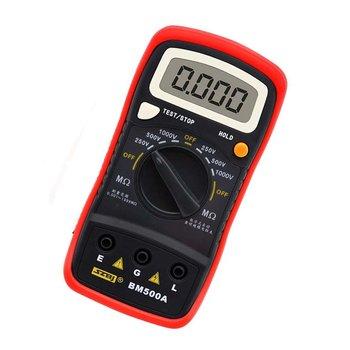 BM500A 1000V Digital Auto Range Insulation Resistance Meter Tester Megohmmeter Voltmeter  High   Voltage LED indication smart sensor ar3123 250 500 1000 2500v megger insulation earth ground resistance tester megohmmeter voltmeter tester