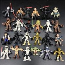 movie Star-Wars 2.5 Galactic Heroes figure toy mini action cartoon heroes boy kids toys birthday gift