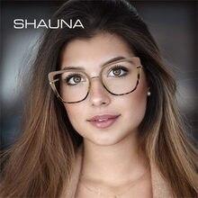 SHAUNA – lunettes de vue pour hommes et femmes, monture rétro, claire, Anti-rayons, charnière de printemps, pour ordinateur