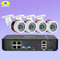 Golden Security Full HD 1080P 4CH NVR CCTV System 4PCS 2MP FHD Outdoor IP Camera 4CH 1080P PoE Security Camera Kit HDMI VGA P2P