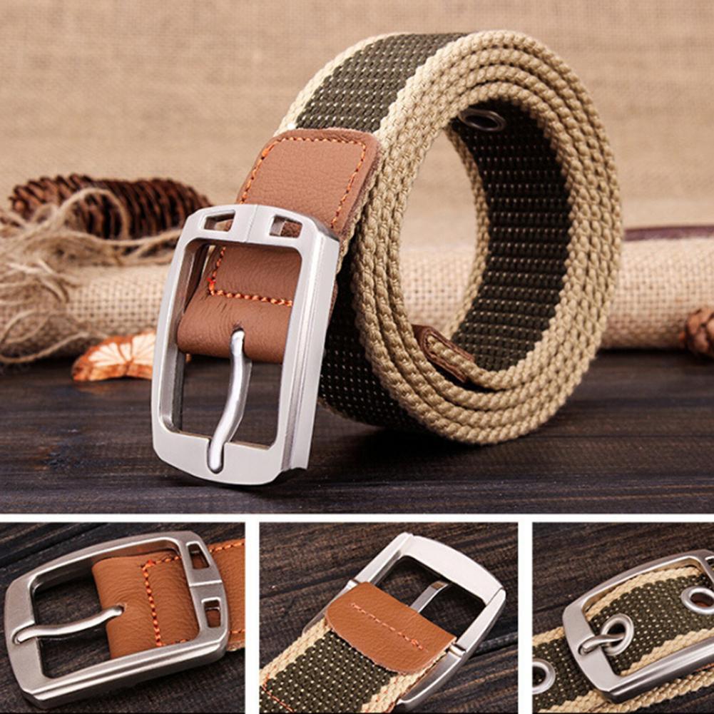 Men Fashion Outdoor Waistband Canvas Adjustable Casual Waist Belt Gift Waistband Classice Vintage Men Belt High Qualit Men Belt